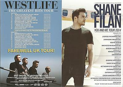 Westlife Greatest Hits Farewell Tour 2012 Shane Filan You And Me 2014  Flyer x 2