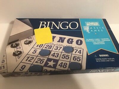 LOT OF 10 VINTAGE BINGO CARDS- Parker Brothers- Crafts/bingo #2/21 New