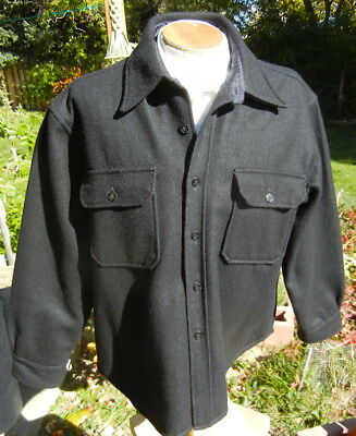 XLNT Vintage 1960s WEATHER-GAY C.P.O. Jacket XL - Plush Lined - Anchor Buttons