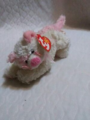 """TY Beanie Baby - PINKERTON the Pink Cat (7"""" Stuffed Animal Toy (AS)"""