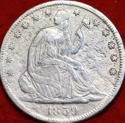 1859-S San Francisco Mint Silver Seated Liberty Half Dollar
