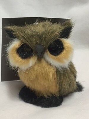 Jaclyn Smith Adorable Furry Brown Owl Ornament