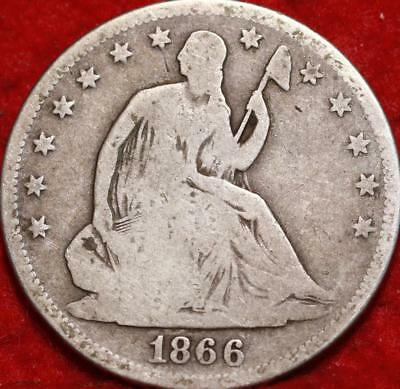 1866-S San Francisco Mint Silver Seated Liberty Half Dollar