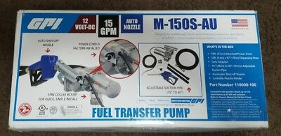 *GPI 12Volt 15GPM Powered Fuel Transfer Pump M-150S-AU BRAND NEW FREE SHIPPING*