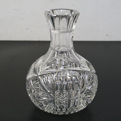 Crystal Cut Glass Round Vase