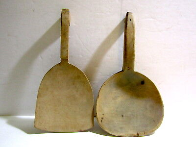 Two Antique Wood Butter Paddles/Spoons