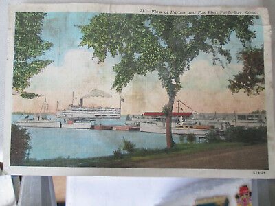 Vintage Postcard lot of 4 scenes Put in Bay and Cedar Point, on Lake Erie, Ohio