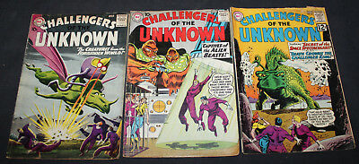JERRY WEIST ESTATE: 3 issues CHALLENGERS OF THE UNKNOWN (DC 1959-62)