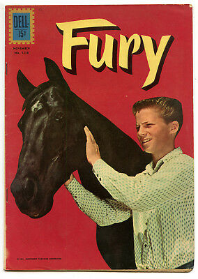JERRY WEIST ESTATE: FOUR COLOR COMICS #1218 FURY (Dell 1961) VG+ condition