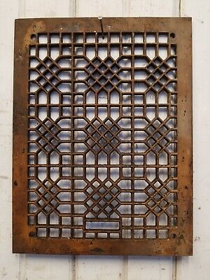 Antique Cast Iron Register Vent / Floor Grate ~ Vintage Structural Salvage Part