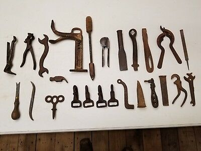 Assorted Antique Vintage Farm Tools ~ Carpentry Tractor Mechanic Metal Working