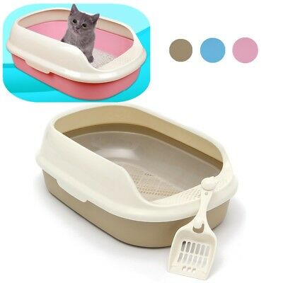 Cat Pet Toilet Kitten Litter Box Tray House Pan With Scoop 55*39*20cm Portable