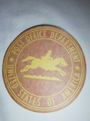 US Post Office Post Office Department Vehicle Decal Sticker 6 1/4 inches