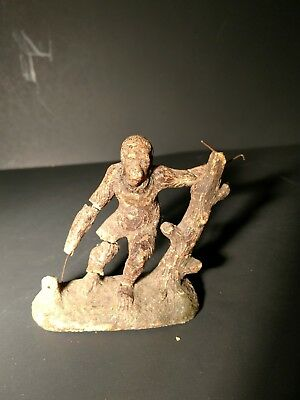 Antique Hand Carved Wood Monkey