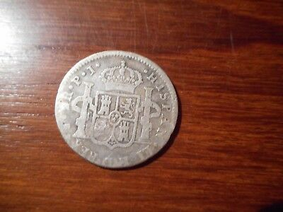 Silver Coin 2 Reales Lima Peru 1806 J.p.
