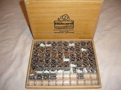 Howard Type Set Hot Stamp Machine 18 Point Goudy Cursive Capitals & Lower Case