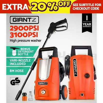 Giantz 2900PSI 3100PSI High Pressure Washer Electric Water Cleaner Pump 8M Hose