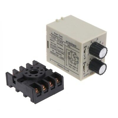 ST3PR Electrical Time Relay Counter Relays Digital Timer Relay with Socket Base