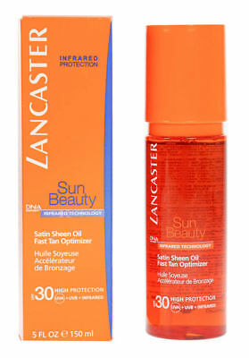 Lancaster Sun Beauty Satin Sheen Oil Fast Tan Optimizer Spf30 150ml DAMAGED BOX