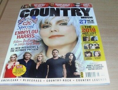 Country Music magazine #8 FEB/MAR 2018 Emmylou Harris, DIxie Chicks, Hot List &