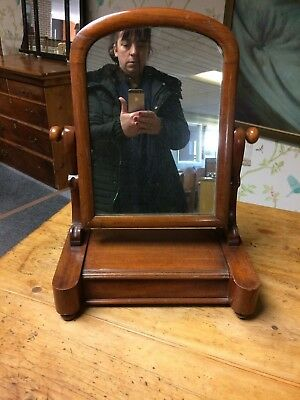 Antique / Vintage Mahogany Dressing Table Mirror  / Toilet Swing Mirror