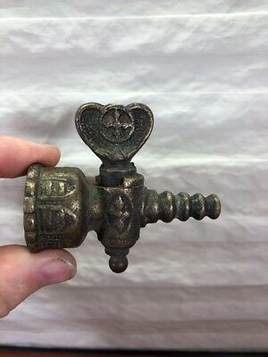 Vintage Antique Victorian Gas Line Brass Petcock Shut Off Valve Steampunk