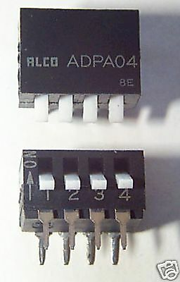 4 switch dip switch with piano handle - 2 pcs / $1.00
