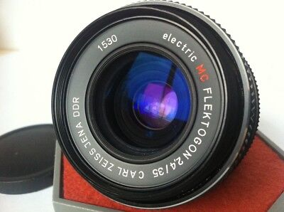 Rare Electric 4-digit Carl Zeiss FLEKTOGON 2.4/35mm Wide Angle Lens M42 Mint