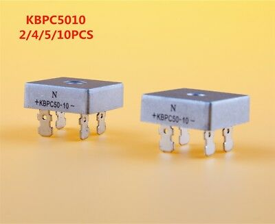 KBPC5010 50A 1000V Metal Case Single Phases Diode Bridge Rectifier 2/4/5/10PCS