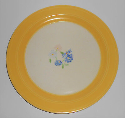 Vernon Kilns Pottery Harry Bird Decorated Floral BY-6 Dinner Plate