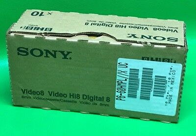 Lot of 10 SONY P6-60HMPL - Hi8 - Digital8 8mm Video8 P660HMPL Cassette Tapes