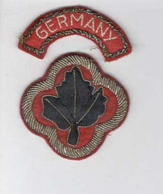 A662 Post WW 2 43rd Infantry Division Bullion Patch & Germany Tab