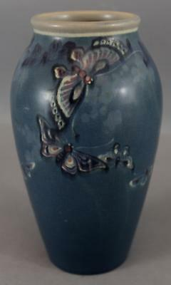 RARE Antique 1916 Signed Rookwood American Art Pottery BUTTERFLY Vase, NR