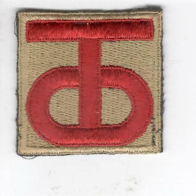 A720 British Made 90th Infantry Division Black Back Patch Win 10 Free US Shippin