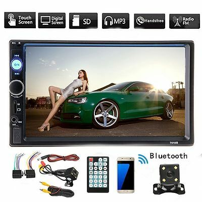"""7"""" 2 Din Touch Screen Car MP5 Player Stereo Bluetooth FM Radio + FREE Camera TTR"""