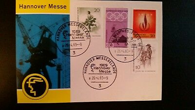 Hannover Messe 1969 mit Stempel