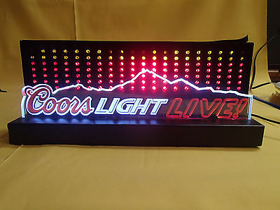 ** Coors Light Live Neon Advertising Sign **