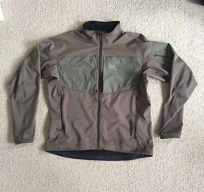 Arcteryx Gamma Mx Polartec Softshell Jacket Cast Iron Olive Green Size XL