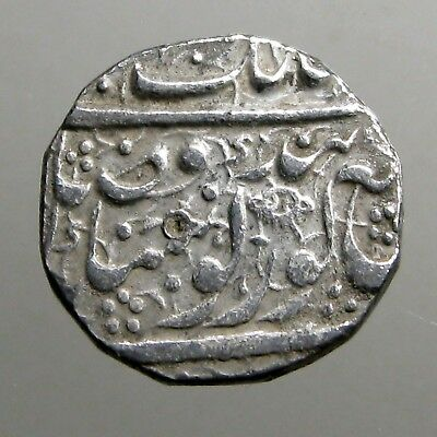 LARGE SILVER RUPEE___Ranjit Singh___LION OF THE PUNJAB___Sikh Empire__PIPAL LEAF