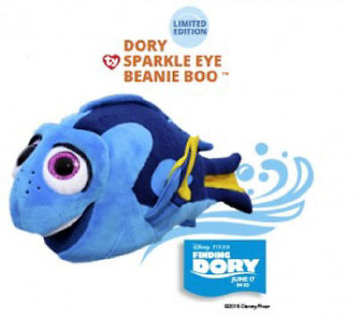 NWT Finding DORY TY SPARKLE EYE Beanie Boo plush Natures Harvest Limited Edition