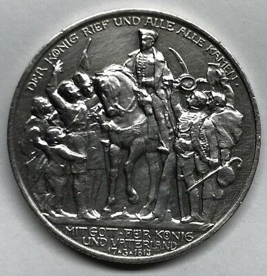 1913-A Prussia / Germany Silver 2 Mark Km#532