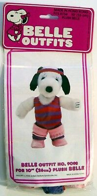 """1983 Peanuts Snoopy's Sister BELLE DANCE OUTFIT #9098 for 10"""" PLUSH - MIP"""