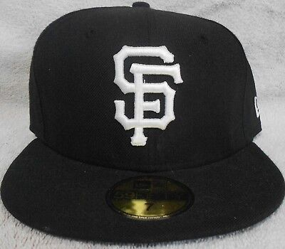 check out 3e348 9b57a San Francisco Giants New Era 59Fifty Fitted Hat 7 - Black MLB Baseball
