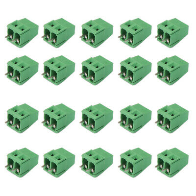 20x 2Pin Plug-in Terminal Block DG128 Screw Pitch 5.08MM 300V/10A for PCB
