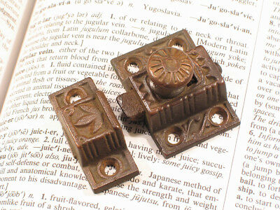 Petite Eastlake Victorian Cupboard Cabinet Door Latch with Keeper - Small