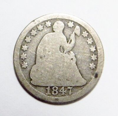 1847  SEATED LIBERTY Half Dime