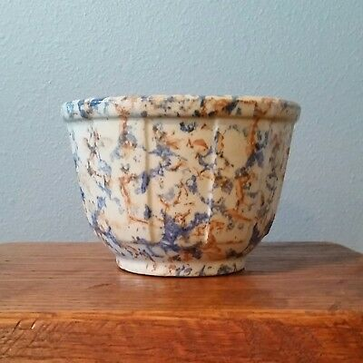 """Red Wing 5"""" Antique Spongeware Bowl. Mint Condition. Extremely Rare!"""