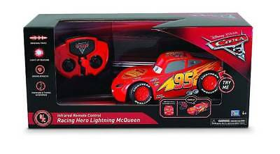 NEW Disney Pixar Cars Racing Hero Lightning McQueen Infrared Remote Control Toy