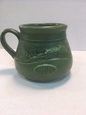 Rookwood Grove Park Inn Mug 2013 Signed, Matte Green-Emerson Poem-Mint-Display