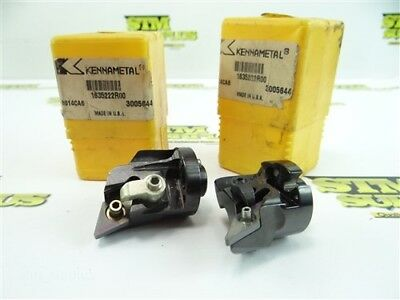New Pair Of Kennametal Indexable Modular Coolant Thru Boring Bar Heads